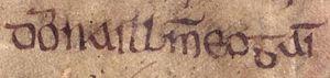 Dyfnwal ab Owain - Image: Dyfnwal ab Owain (Oxford Bodleian Library MS Rawlinson B 502, folio 25r)