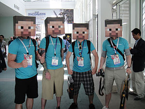 E3 2011 - box-headed Minecraft men (5822675610).jpg