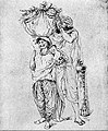 EB1911 India - wife with izār, kurta, and orhni; husband with majba, chadar, and joridar.jpg