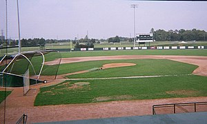 Eastern Michigan Eagles - Oestrike Stadium looking towards Huron River Drive.