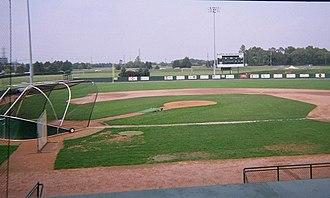 Eastern Michigan Eagles - Oestrike Stadium looking towards Huron River Drive.