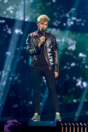 Lithuania in the Eurovision Song Contest 2016 - Donny Montell during a rehearsal before the second semi-final