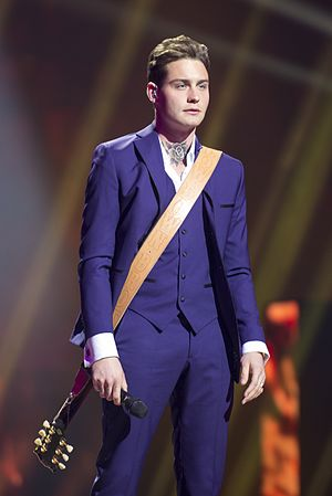 Netherlands in the Eurovision Song Contest 2016 - Douwe Bob during a rehearsal before the first semi-final
