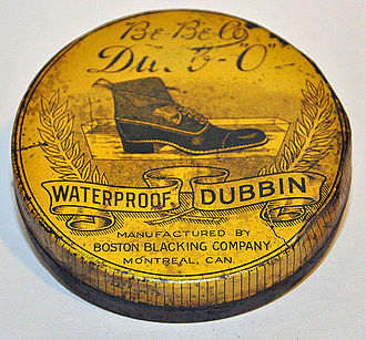 Bostik - Early 20th century dubbin tin from the Boston Blacking Co. under the Be-Be-Co brand name: Dubb-O