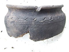 Earthenware Fragment 01 Kyiv Poshtova Square Archeological Excavations July'2015 (DSCF3204).jpg