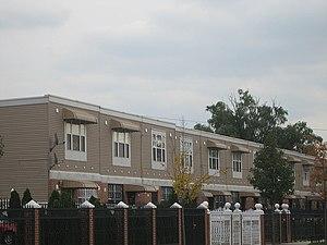 East New York, Brooklyn - New subsidized single-family homes being built under the Nehemiah program.