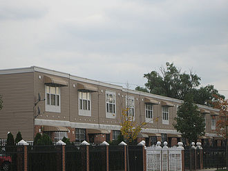 East New York, Brooklyn - New subsidized single-family homes being built under the Nehemiah program.