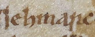 Echmarcach mac Ragnaill - Image: Echmarcach mac Ragnaill (British Library Cotton MS Domitian A VIII, folio 67r)