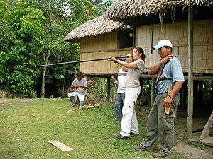 Huaorani people - A Huaorani blowgun