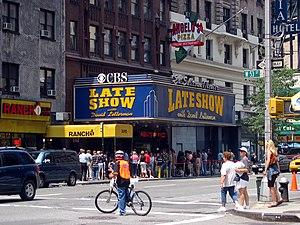 CBS's Ed Sullivan Theater in Manhattan, home t...