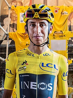 Egan Bernal Colombian cyclist