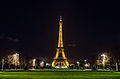Eiffel Tower at night, Paris 20 April 2013.jpg