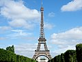 Eiffel Tower from Champ de Mars, Paris July 2008.jpg