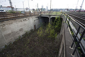 Leipzig City Tunnel - North portal of the unfinished tunnel of 1915 (in 2010)
