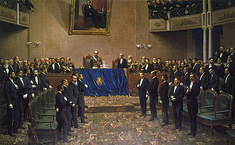 Generation of '80 - El General Roca ante el Congreso Nacional (c. 1886-1887) by Juan Manuel Blanes.