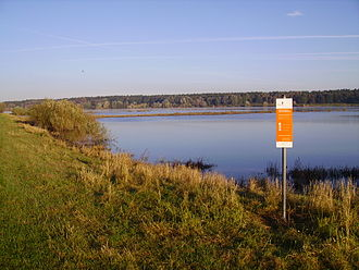 Elbe Marshes - Flooded terrain in front of the dikes of the Lüneburg Elbe marshes
