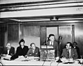 Eleanor Roosevelt and others at the head table, where ILGWU president David Dubinsky is speaking from a podium (5278596236).jpg
