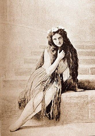 The Little Mermaid (statue) - Ellen Price as the Little Mermaid, Royal Danish Ballet, 1909.