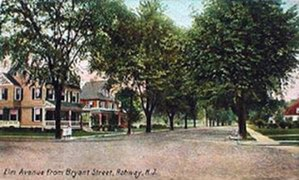 Rahway, New Jersey - Elm Avenue, looking west, in the early 1900s