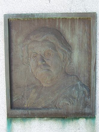Modest Stein - Emma Goldman's gravestone plaque, by Jo Davidson from likeness by Modest Stein