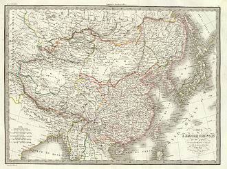 High Qing era - Territory under the control of the Qing Empire during the High Qing era.