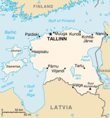 Χάρτης της Εσθονίας