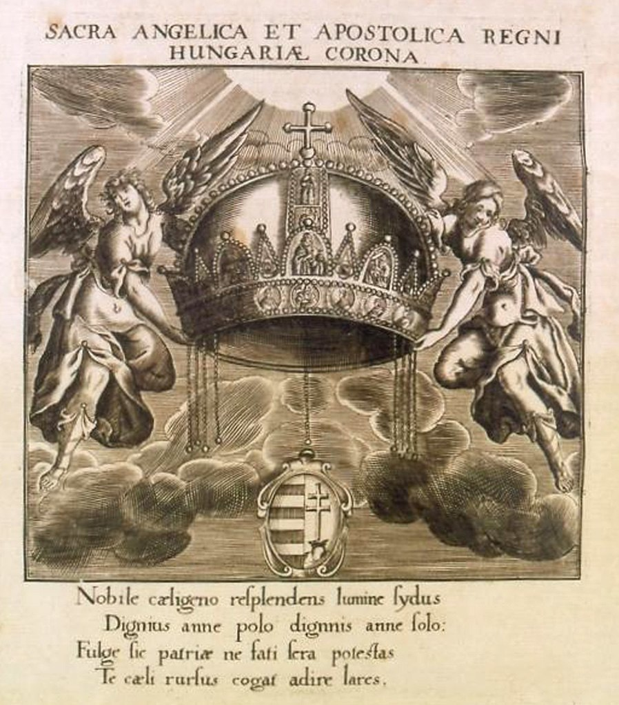 Engraving of the Holy Crown of Hungary