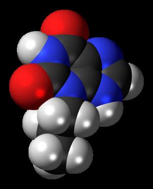 Enprofylline - Image: Enprofylline molecule spacefill