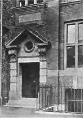 Johnston Laboratories - Entryway to the laboratory building in 1903