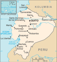 Mapa Ekwadoru
