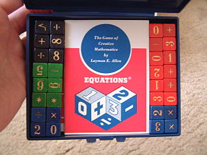 "Academic Games - ""Equations"" by Layman E. Allen (circa 1969)"