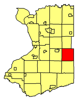 Location of Wales in Erie County