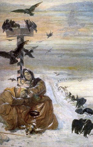 Aleksander Sochaczewski - A painting demonstrating exiles trying to escape camp.