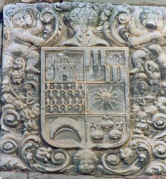 Spanish heraldry - Arms of the House of Ena in Ayerbe