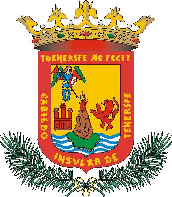 Escudo do Cabido Insular de Tenerife.