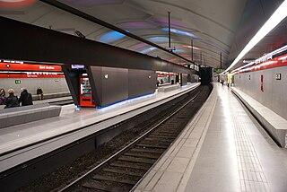 Rapid transit line in Barcelona, Spain