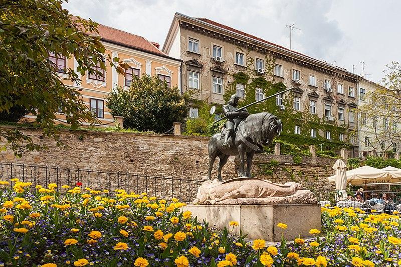 File:Estatua de San Jorge mató al Dragón, Zagreb, Croacia, 2014-04-13, DD 01.JPG