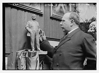 Ettore Ximenes - Ettore Ximenes with a sculpture model of opera singer Enrico Caruso.