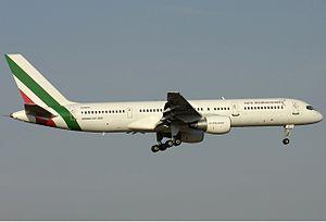 Euro Mediterranean Airlines Boeing 757 Bidini.jpg