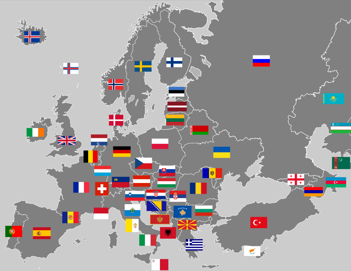 File:Europe with flags.png