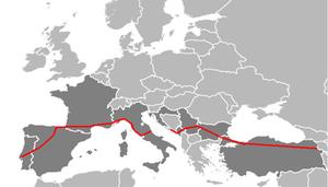 European route E80. png