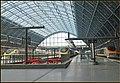 Eurostar trains at St Pancras station London.jpg