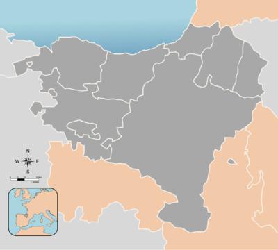 Mapa Pais Vasco Frances.Euskal Herria Wikipedia La Enciclopedia Libre