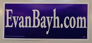 Evan Bayh presidential campaign, 2008 - Image: Evan Bayh