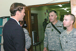 Evan Bayh presidential campaign, 2008 - Bayh during a January 2006 trip to Iraq