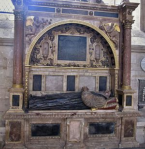 William Cotton (bishop) - Monument and effigy of Bishop William Cotton in Exeter Cathedral