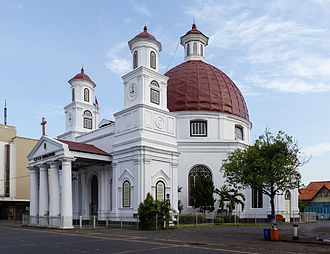 Dutch Reformed Church - The former Reformed church building (Koepelkerk) in Semarang, Indonesia