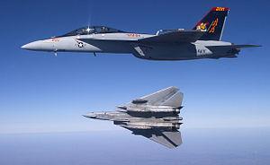 F-14B and FA-18EF VF-VFA-11 Banking Tomcat 2 - 2005.jpg