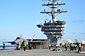 F-35C Lightening II aboard USS Dwight D. Eisenhower (21319056063).jpg