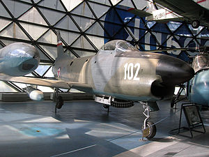 117th Fighter Aviation Regiment - North American A F-86D Sabre jet fighter which served with the 117th Fighter Aviation Regiment from 1962 to 1964 and 1966 to 1968. It is now in the Belgrade Aviation Museum